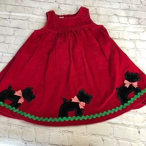 Dresses - Red corduroy Scottie dog Christmas dress size 5